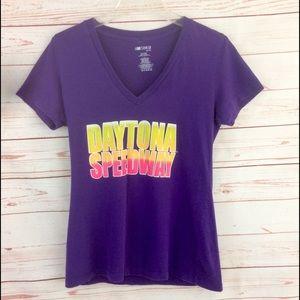 Nascar Daytona Speedway Purple Graphic Tee
